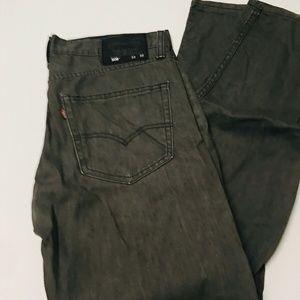 Levi's 508 Mens Skinny Slim Fit Jeans Dark Wash